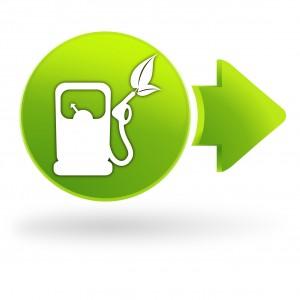 carburant vert sur symbole web vert