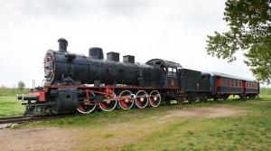 Orient express steam-powered train
