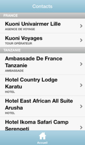 contacts carnet de vpyage kuoni