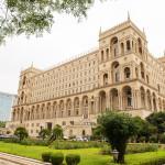 Baku - Jule 9, 2015: Government House on jule 9 in Azerbaijan, Baku. Government House is a gothic-style building in Baku