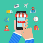 E-commerce Business concept Set icons