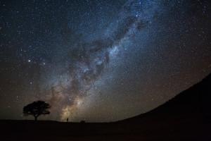 La voie lactée en Namibie ciel d'Afrique