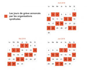 calendrier des grèves