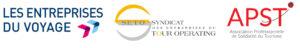 3 logos de Entreprises du voyage SETO et APSTet