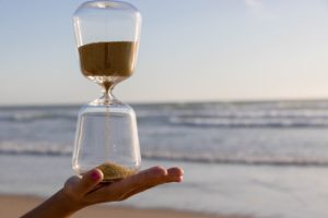 Hour glass on hand